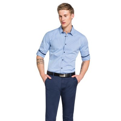 Fashion 4 Men - yd. Bendit Slim Fit Shirt Blue Xxxl