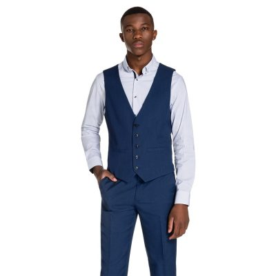 Fashion 4 Men - yd. Bentley Waistcoat Airforce Blue 2 Xs
