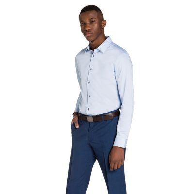 Fashion 4 Men - yd. Beny Slim Fit Dress Shirt Light Blue L
