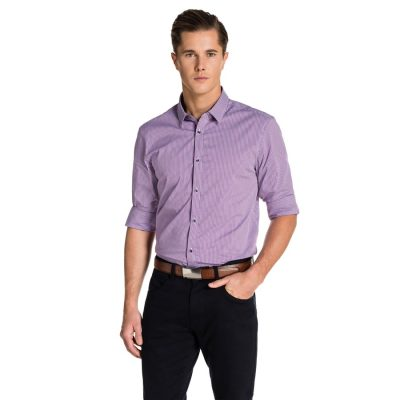 Fashion 4 Men - yd. Berlin Shirt Purple Xs
