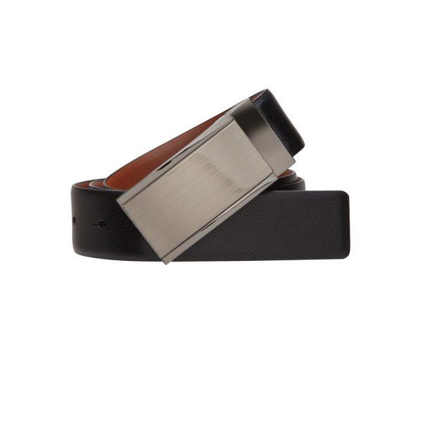 Fashion 4 Men - yd. Black Bond Dress Belt Tan/Black 40