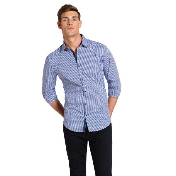 Fashion 4 Men - yd. Caesars Slim Fit Shirt Navy Xxxl