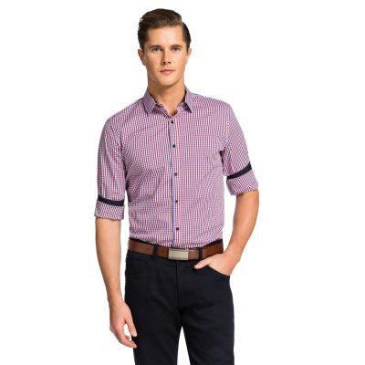 Fashion 4 Men - yd. Caesars Slim Fit Shirt Red S