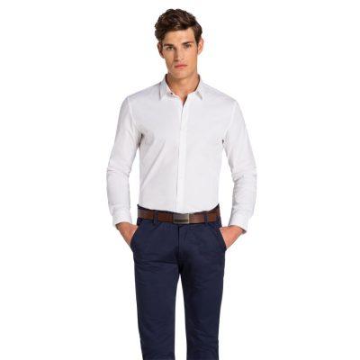 Fashion 4 Men - yd. Caledon Slim Fit Shirt White Xl