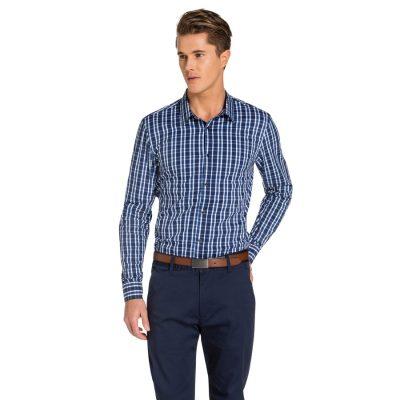 Fashion 4 Men - yd. Cosmopolitain Slim Fit Shirt Blue L