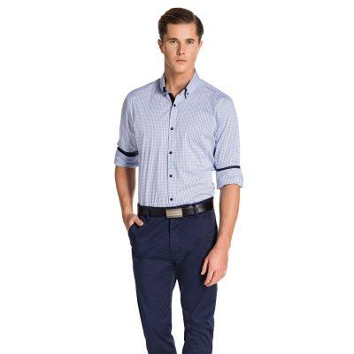 Fashion 4 Men - yd. Dawes Shirt White/Blue Xs