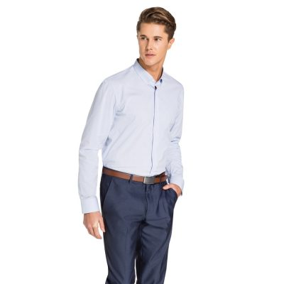 Fashion 4 Men - yd. Hillier Slim Fit Shirt Light Blue Xs
