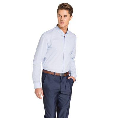 Fashion 4 Men - yd. Hillier Slim Fit Shirt Light Blue Xxxl