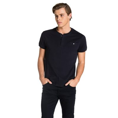 Fashion 4 Men - yd. Hugo Henley Tee Navy 2 Xs