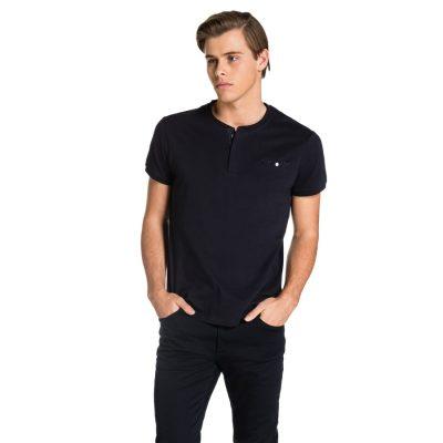 Fashion 4 Men - yd. Hugo Henley Tee Navy Xs
