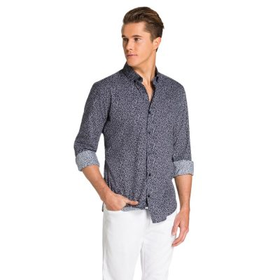 Fashion 4 Men - yd. Kenley Shirt Navy/ White M