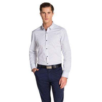 Fashion 4 Men - yd. Kiamo Shirt White/Navy Xs