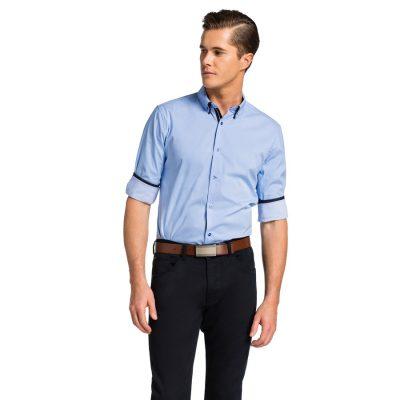 Fashion 4 Men - yd. Leeman Slim Fit Shirt Blue M