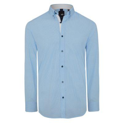 Fashion 4 Men - yd. Monroe Slim Fit Shirt Blue Xxxl