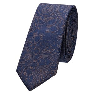 Fashion 4 Men - yd. Osta 5 Cm Tie Dark Blue One