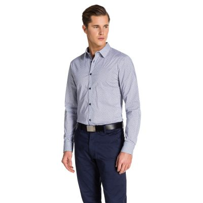 Fashion 4 Men - yd. Pierre Slim Fit Shirt Navy Xl