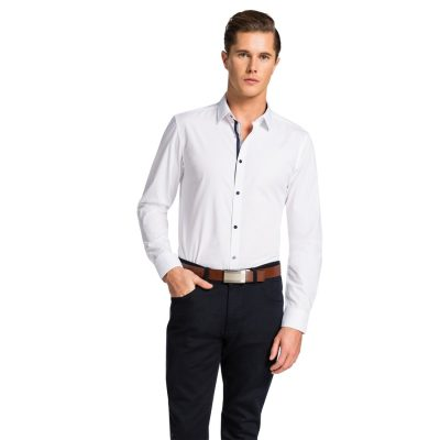 Fashion 4 Men - yd. Rapp Slim Fit Shirt White 2 Xs