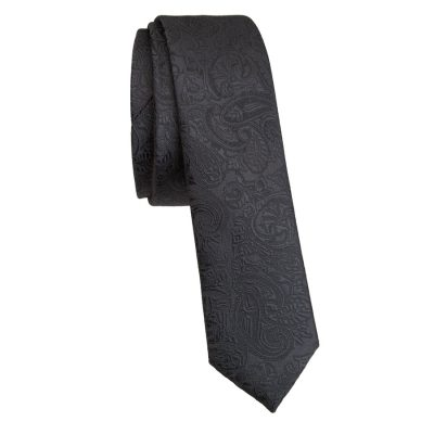 Fashion 4 Men - yd. Rialta Paisley 5 Cm Tie Black One