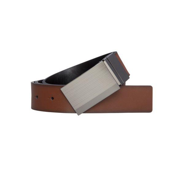 Fashion 4 Men - yd. Riley Dress Belt Brown/Black 36
