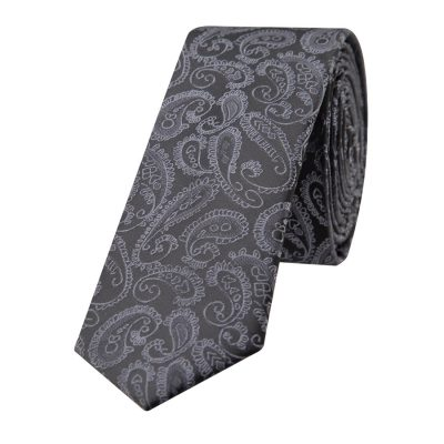 Fashion 4 Men - yd. Rocky Paisley Tie Charcoal One