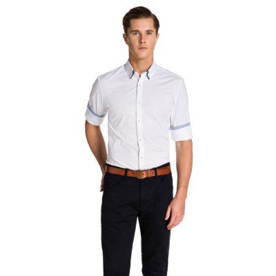 Fashion 4 Men - yd. Santino Slim Fit Shirt White Xxxl