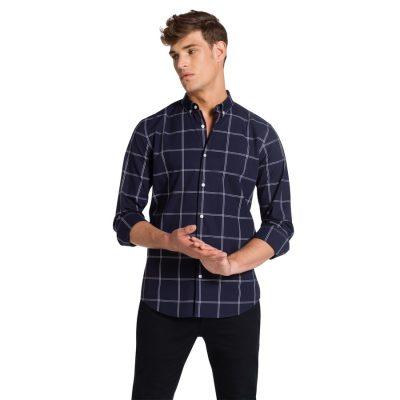 Fashion 4 Men - yd. Sedgefield Slim Fit Shirt Navy Xxxl