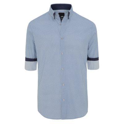 Fashion 4 Men - yd. Shale Shirt Blue L