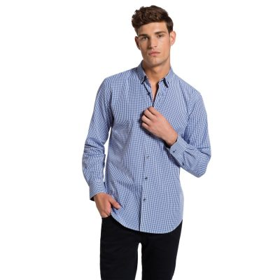 Fashion 4 Men - yd. Villato Slim Fit Shirt Blue S
