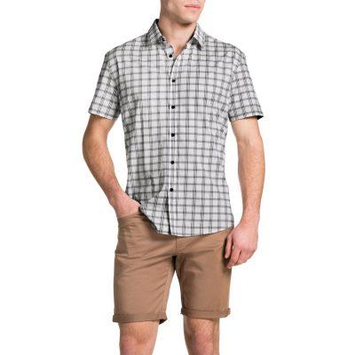 Fashion 4 Men - Tarocash Agassi Check Shirt Black M