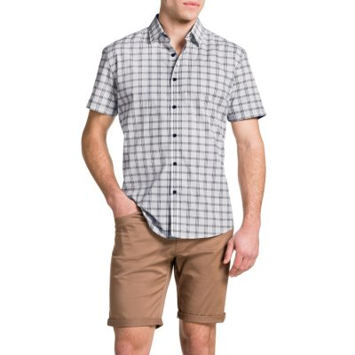 Fashion 4 Men - Tarocash Agassi Check Shirt Navy 5 Xl