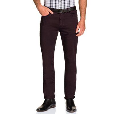 Fashion 4 Men - Tarocash Benny Stretch 5 Pkt Pant Burgundy 36