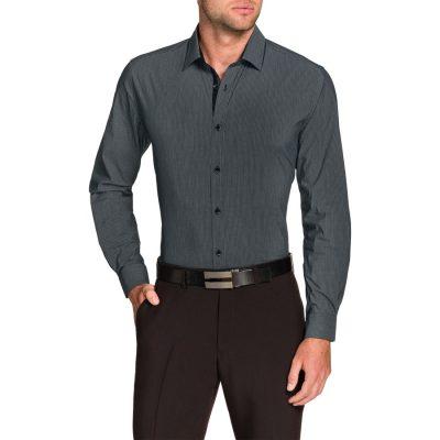 Fashion 4 Men - Tarocash Christian Stretch Check Shirt Grey Xl