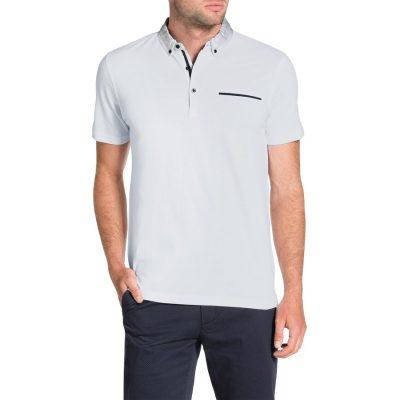 Fashion 4 Men - Tarocash Collar Detail Polo White M