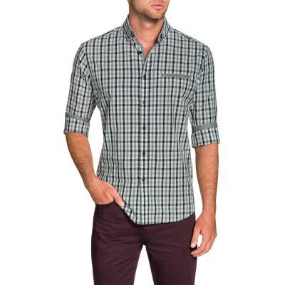 Fashion 4 Men - Tarocash Cullen Check Shirt Grey 4 Xl