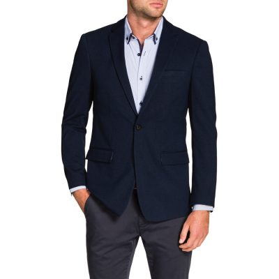 Fashion 4 Men - Tarocash Curtis Textured Jacket Navy L