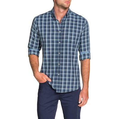 Fashion 4 Men - Tarocash Fargo Check Shirt Denim 4 Xl