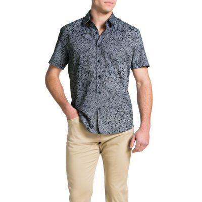 Fashion 4 Men - Tarocash Federer Paisley Shirt Navy Xxxl