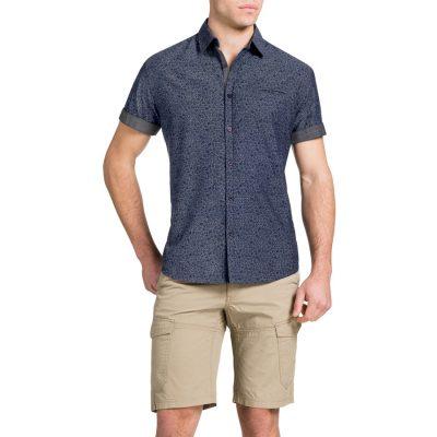 Fashion 4 Men - Tarocash Floral Indigo Shirt Indigo Xxxl
