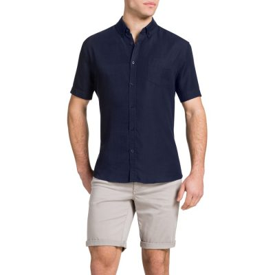 Fashion 4 Men - Tarocash Indigo Pocket Shirt Indigo Xl
