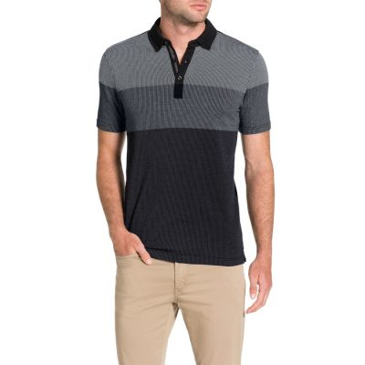 Fashion 4 Men - Tarocash Jacquard Polo Black Xl