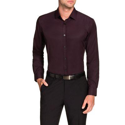 Fashion 4 Men - Tarocash Jasper Dress Shirt Burgundy 5 Xl
