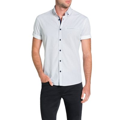 Fashion 4 Men - Tarocash Maritime Print Shirt White Xxl