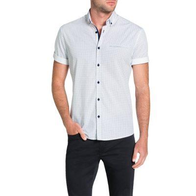 Fashion 4 Men - Tarocash Maritime Print Shirt White Xxxl