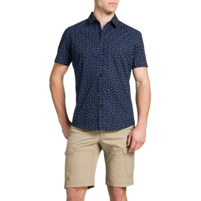 Fashion 4 Men - Tarocash Midnight Print Shirt Navy Xxl