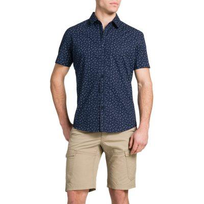 Fashion 4 Men - Tarocash Midnight Print Shirt Navy Xxxl