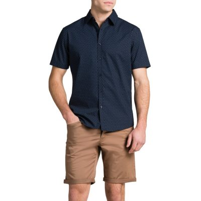 Fashion 4 Men - Tarocash Navy Bracket Print Navy Xxl