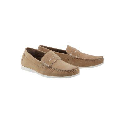 Fashion 4 Men - Tarocash Oliver Suede Loafer Sand 11