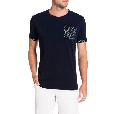 Fashion 4 Men - Tarocash Print Pocket Tee Navy Xxxl