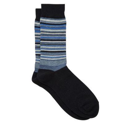 Fashion 4 Men - Tarocash Single Striped Sock Blue 1
