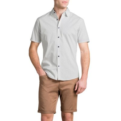 Fashion 4 Men - Tarocash Square Print White M